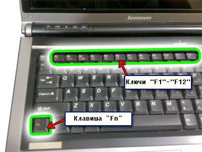 Laptop function key