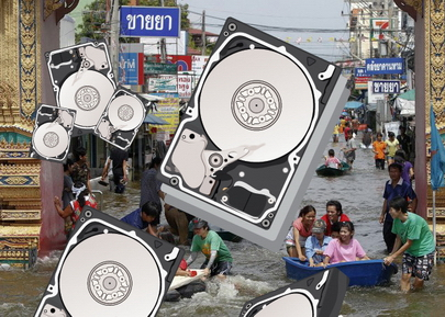 Резкое подорожание HDD из-за наводнения в Таиланде