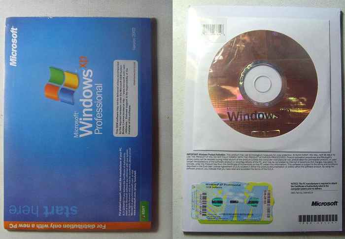 Windows XP лицензия