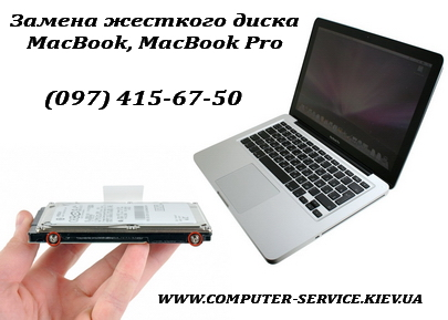 Замена жесткого диска в MacBook и MacBook Pro