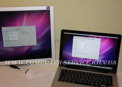 Подключение второго монитора к MacBook Pro
