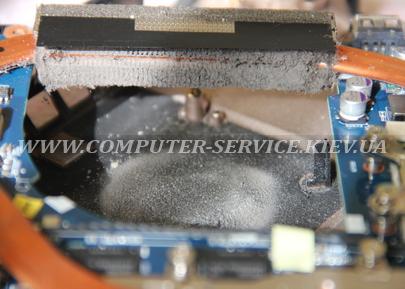Забитая система охлаждения ноутбука