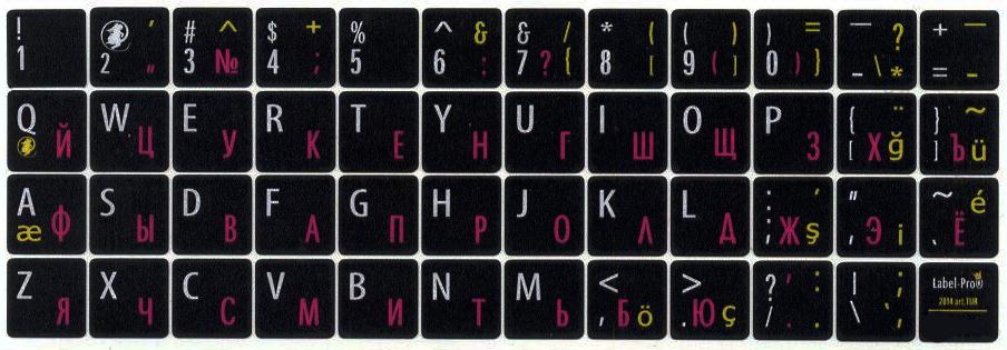 Tureckie naklejki na klaviaturu