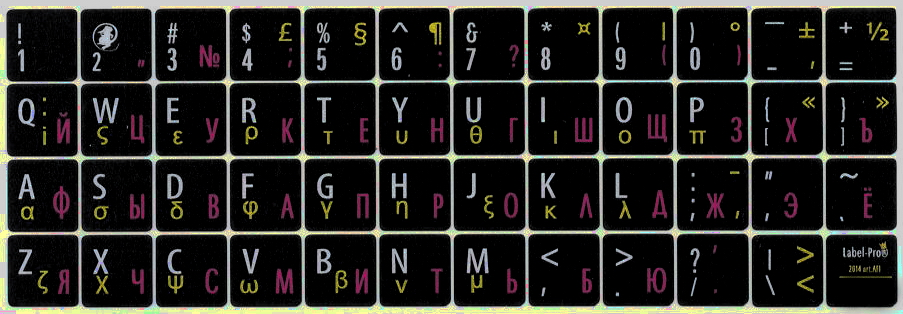 Grecheskie naklejki na klaviaturu